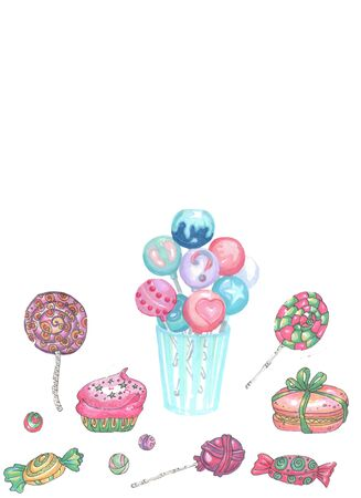set of various colored candy Zdjęcie Seryjne