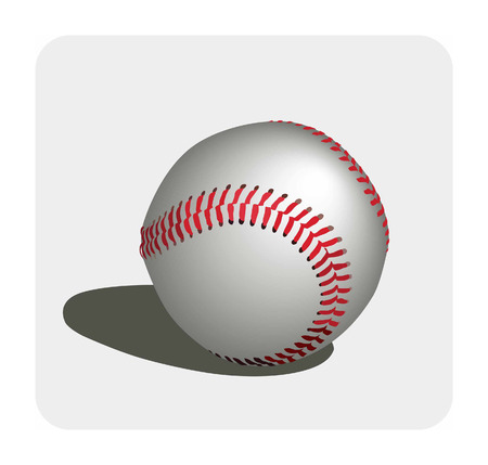 hardball: Vector color image of a baseball.