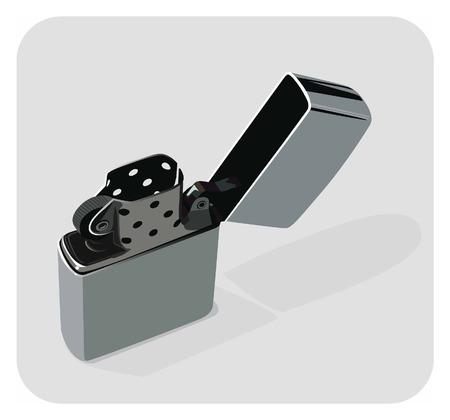 ljusare: Vector color illustration of a classical lighter.