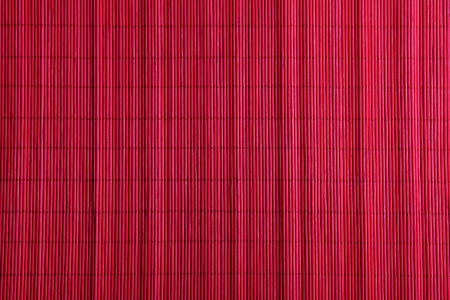 rattan mat: abstract red bamboo pad background Stock Photo