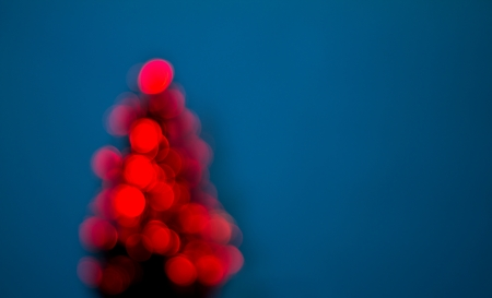 Abstract blurred christmas tree lights