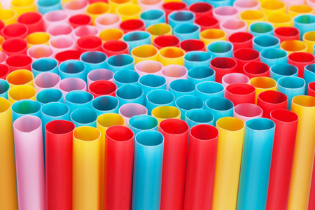 colorful drinking straws Stock fotó