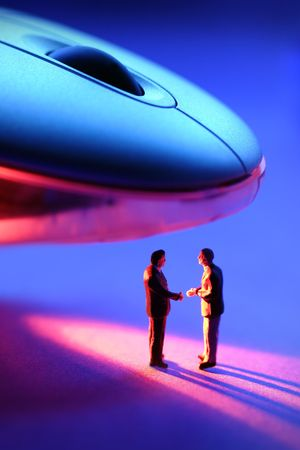 infra red: Business handshake under a infra red mouse