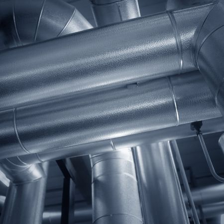 conduit: Big air duct pipes