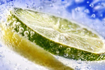 acidic: Lemon in water