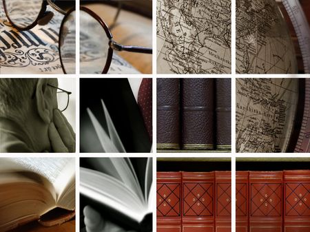 poetry: Library Collage