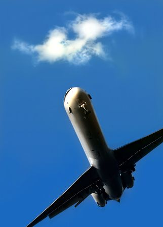 Airplane in motion Stock Photo - 398730