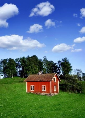 red wooden house Stock Photo - 428920