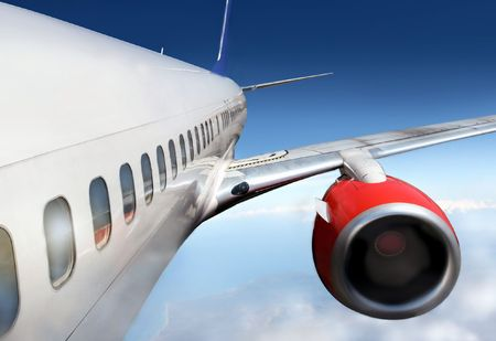 turbulence: wings and engines of aircraft