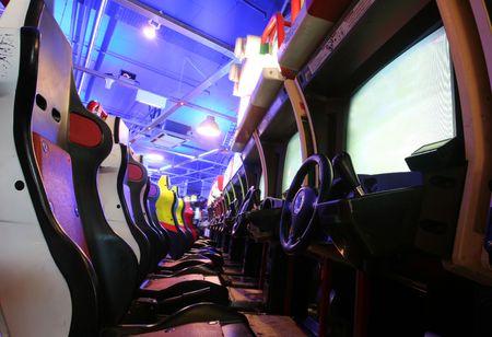 Car Arcade Stock Photo