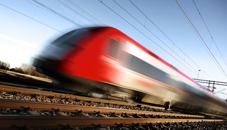 Fast train with motion blur Stock Photo - 2868608