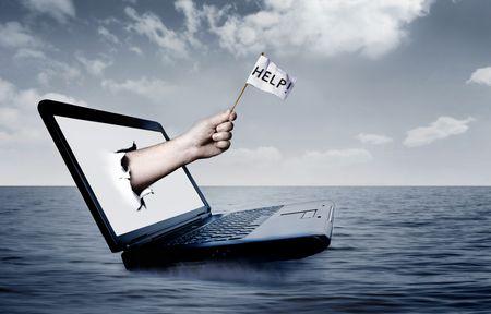 Laptop at sea Stock Photo - 3592673