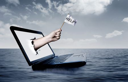 Laptop at sea Stock Photo - 3592673