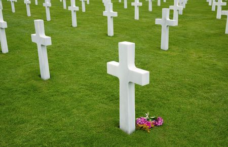 American cemetery in Omaha Beach, Normandy photo