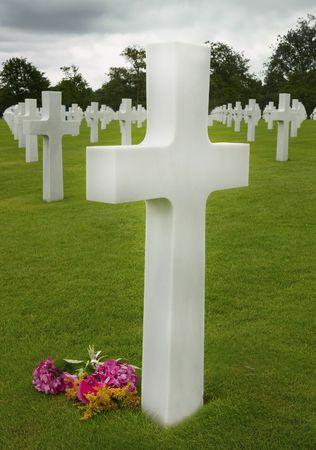 omaha: American cemetery in Omaha Beach, Normandy