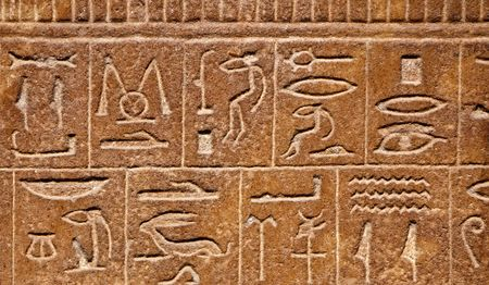 hieroglyphics: Egyptian hieroglyphs background
