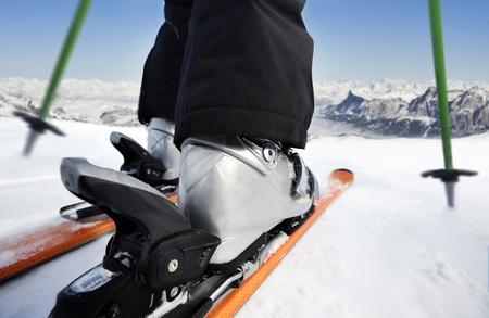 Skiing downhill Standard-Bild