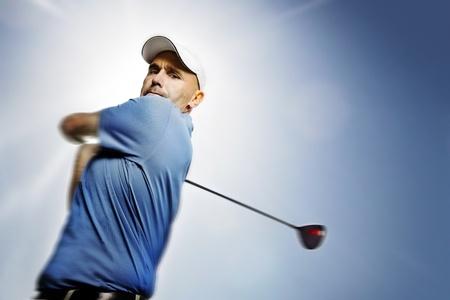 golfing: Golf club en bal in gras
