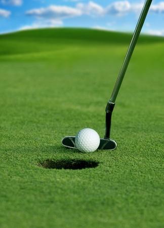 golf club: Golf club and ball in grass