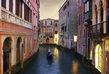 Traditional Venice gondola ride  photo