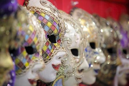 Traditional venetian carnival mask. Venice, Italy photo