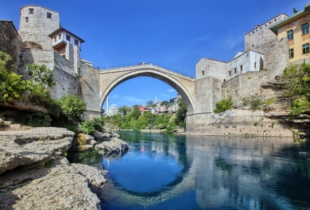 Die alte Brücke, Mostar, Bosnien-Herzegowina