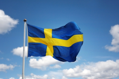 Swedish flag photo