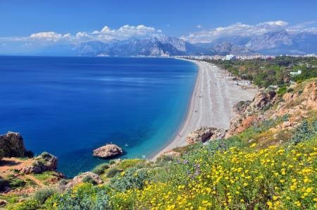 turkey beach:  Konyaalti beach, Antalya Stock Photo