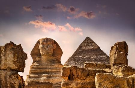 giza: The Sphinx in Egypt Stock Photo