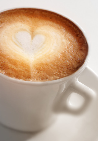 tanasiuk: Cup of coffee with a heart Stock Photo