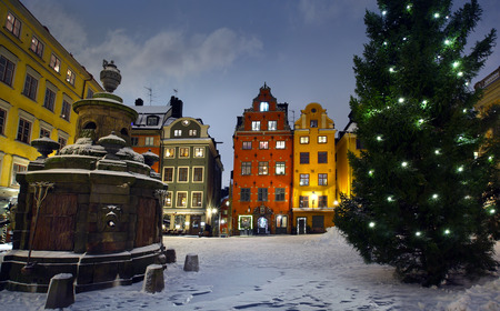 scandinavian peninsula: Stortorget at Christmas time Stock Photo