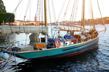 Old sailing boat in Stockholm, Sweden