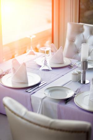 restaurant table Banque d'images