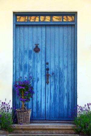 Blue Door in Sweden