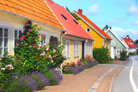 House, Bastad, Sweden, Scandinavia, Europe Banque d'images