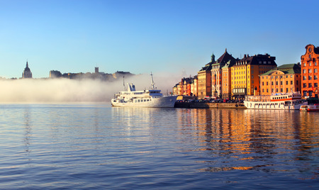 Stockholm city in morning