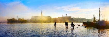 Une vue d'automne de Nordiska Museet, Stockholm city Banque d'images - 49674597