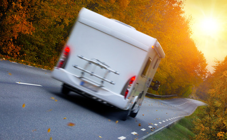motor home: Travelling with a motor home , scenic view