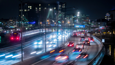 timelapse: Stockholm city at night