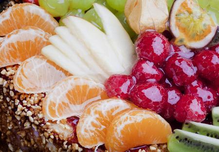 Gâteau aux fruits Close up Banque d'images - 68135156
