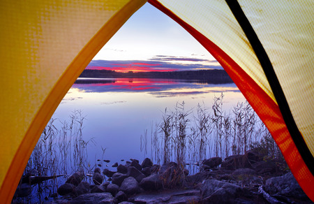 Camping in the nature