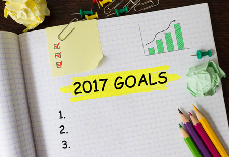 Notebook with Toolls and Notes about 2017 Goals,concept