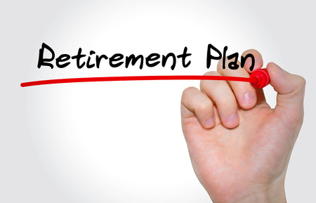Hand writing inscription Retirement Plan with marker, concept