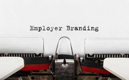 Text Employer Branding typed on retro typewriter Stock Photo