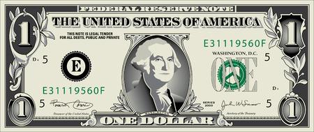 personne seule: Un dessin stylis� d'un dollar le projet de loi