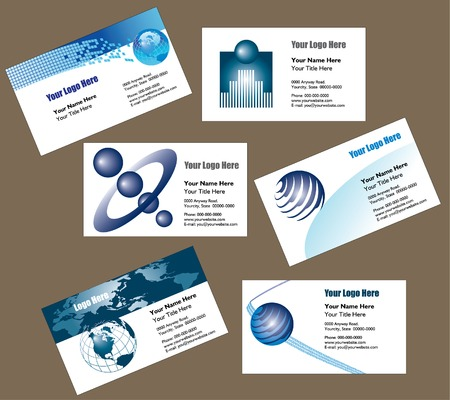 6 business card templates to choose from