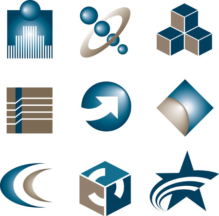 nine vector logos to choose from Stok Fotoğraf - 3189432