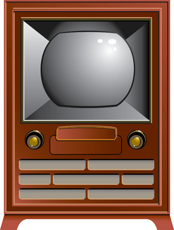 A precisely drawn vintage Television Vector