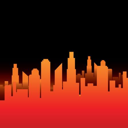 City Vector background Stock Vector - 3189455