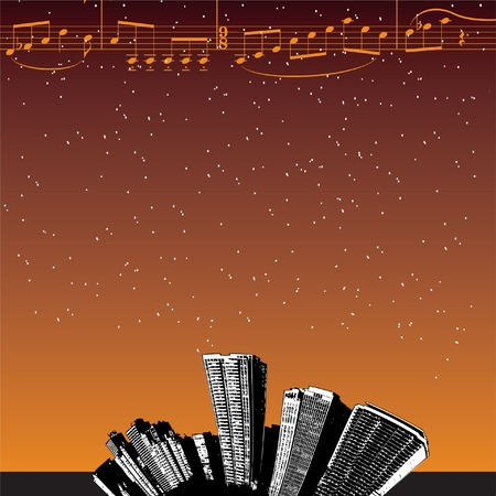 City Music Background Vector